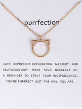 Load image into Gallery viewer, Cat Head Outline Necklace - Gold