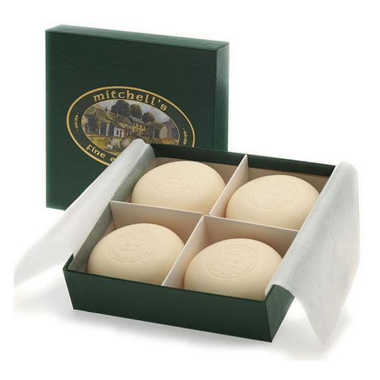 Gift Set (Four Round Soap Bars in Green Gift Box)