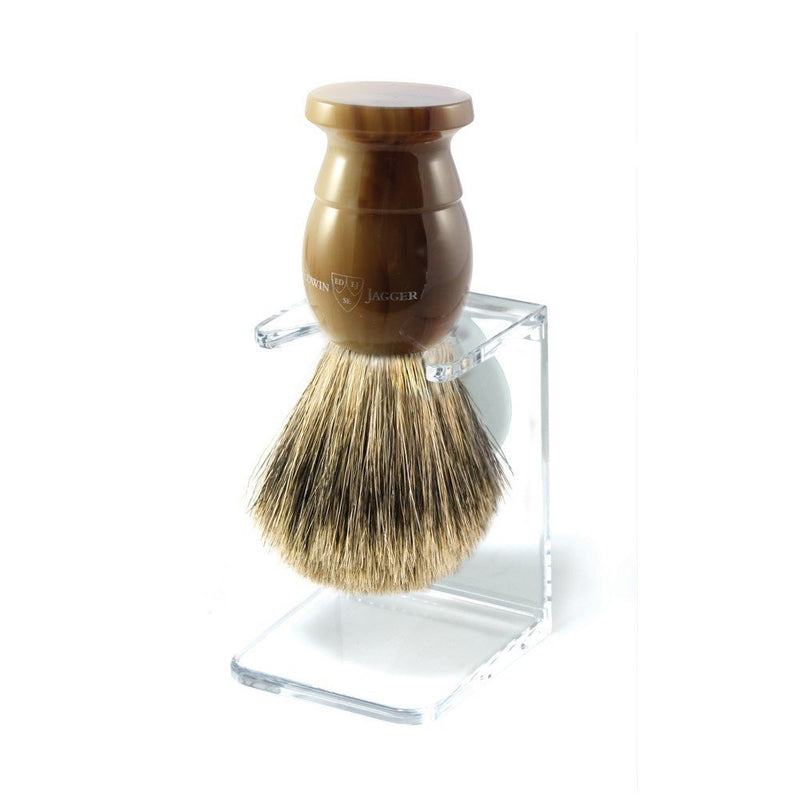 English Shaving Brush Imitation Light Horn Large Best Badger with Drip Stand
