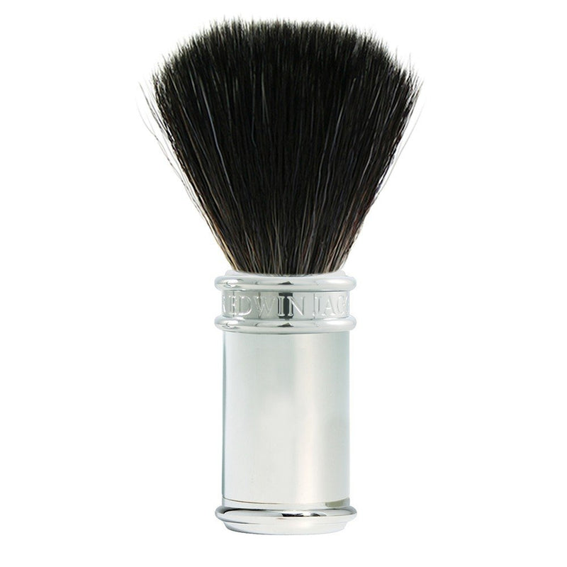 Diffusion 76 Chrome Plated Black Synthetic Shaving Brush - Edwin Jagger - Face & Co