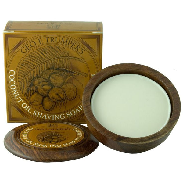 Coconut Shaving Soap & Wooden Shaving Bowl