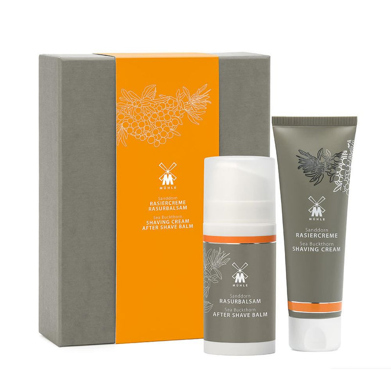Sea Buckthorn Shaving Gift Set (Shaving Cream & Aftershave) - Mühle - Face & Co