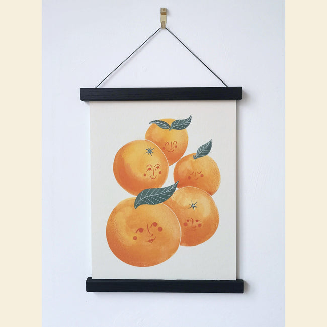 Bunch of oranges illustrated giclee fine art print A4 , Printed in the UK