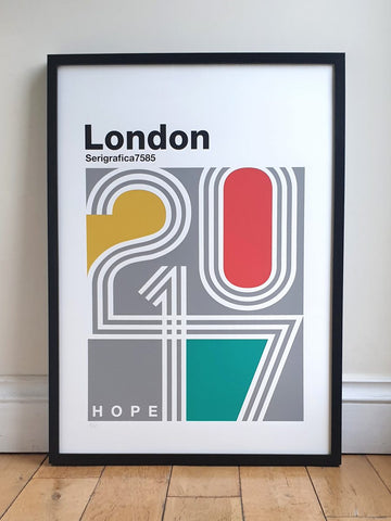 London Typography Retro Print