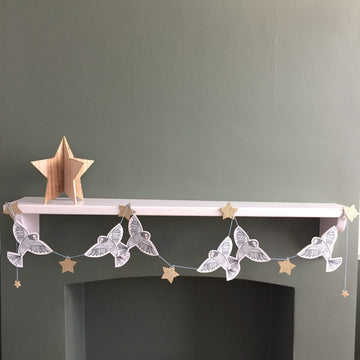 Blue Bird and Star Garland