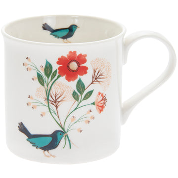 Bluebird single china mug