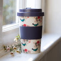 Bluebird bamboo travel mug
