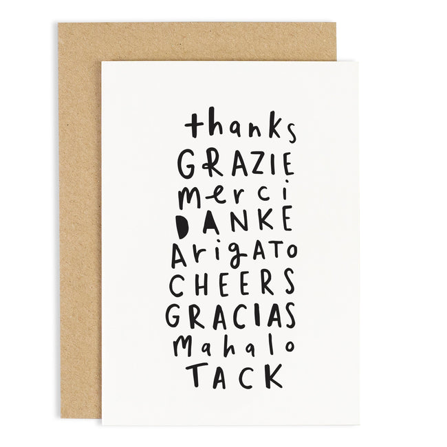 Thank You in different languages - Greeting card