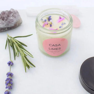 Lavender & Clary Sage Scented Essential Oil Soy Aromatherapy Candle