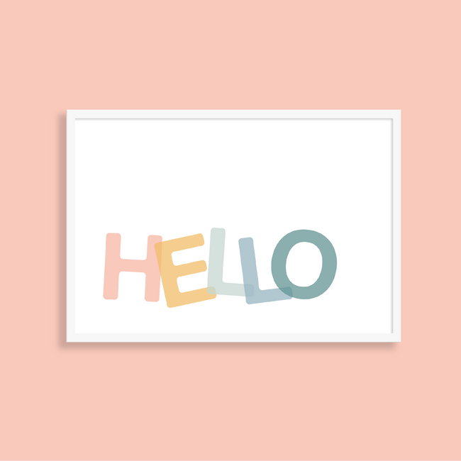 HELLO – kids art print