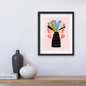 'Abstract Vase' A4 Print