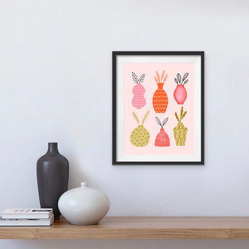 'Abstract Vases' A4 Print
