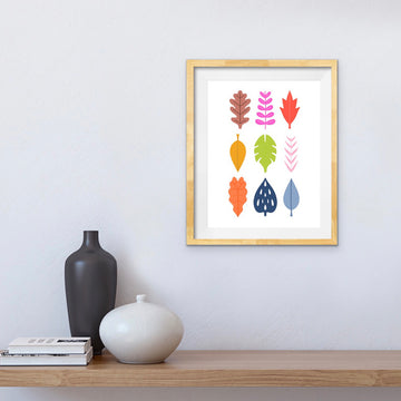 'Multi Leaves' A3 Print
