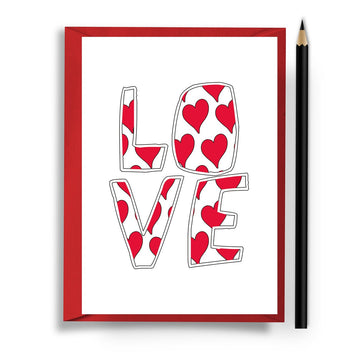 Love Typographical Card