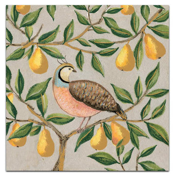 Partridge and pears - pack of 10 Christmas cards with envelopes