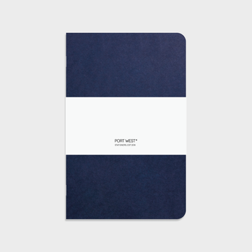 Port West A5 Notebook (Blue) – FSC Recycled Paper, Vegan-friendly Natural Dyes, Made in the UK
