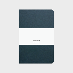 Port West A5 Notebook (Green) – FSC Recycled Paper, Vegan-friendly Natural Dyes, Made in the UK