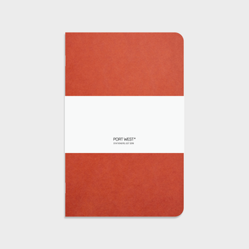 Port West A5 Notebook (Red) – FSC Recycled Paper, Vegan-friendly Natural Dyes, Made in the UK