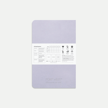 Port West A5 Notebook (Grey) – FSC Recycled Paper, Vegan-friendly Natural Dyes, Made in the UK