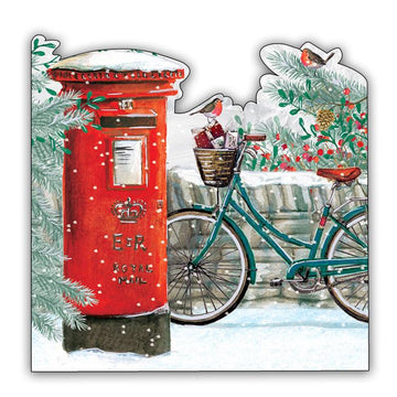 Postbox - pack of 10 Christmas cards with envelopes