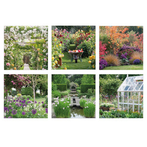 Gardens set of 6 greeting cards