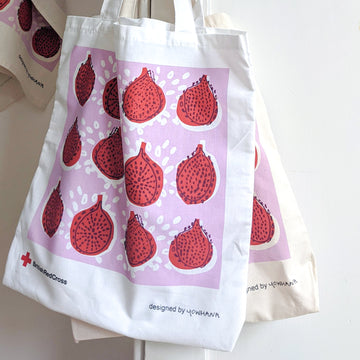 Organic cotton 'pomegranate' tote bag