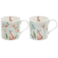 Hoppy Days set of 2 fine china mugs