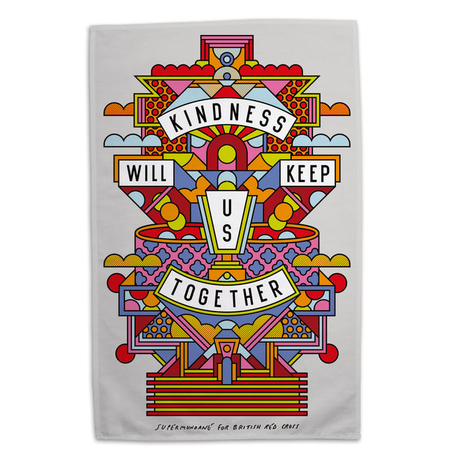 Organic cotton tea towel - Supermundane
