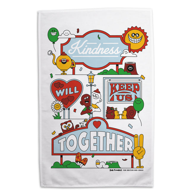 Organic cotton tea towel - Rob Flowers