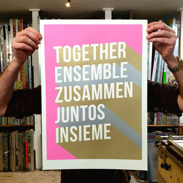 Together Typography Positivity Screen Print
