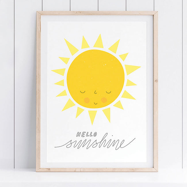 'Hello Sunshine' eco-friendly spring summer print