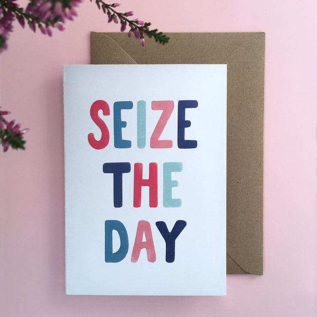 'Seize the Day' eco-friendly greeting card
