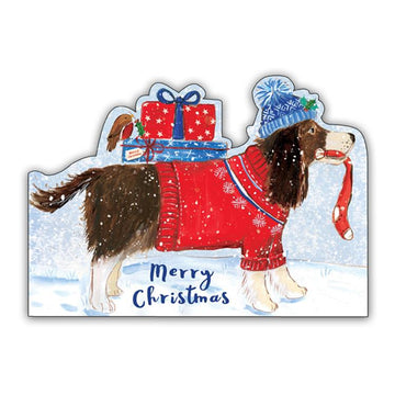 Winter pup - pack of 10 Christmas cards with envelopes
