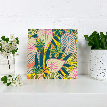 House Plants Greetings Card