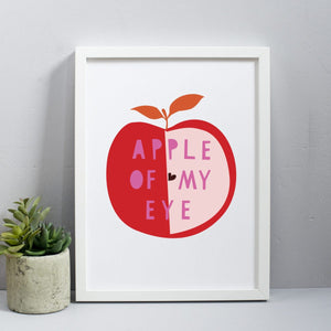 Apple of my eye print