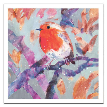 Bright robin - pack of 10 Christmas cards with envelopes
