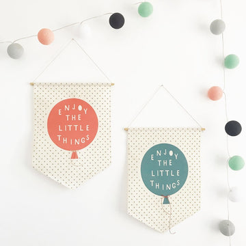 Enjoy The Little Things Wall Banner Flag