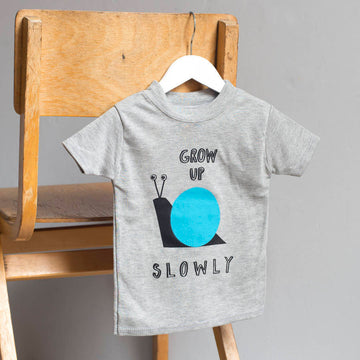 Grow Up Slowly Snail Children's T-Shirt