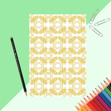 Bee Print Notebook