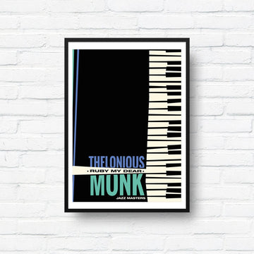 Thelonious Monk Ruby My Dear screen print