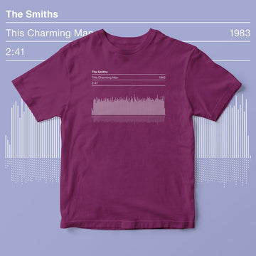 The Smiths This Charming Man Graphic Sound Wave T-shirt