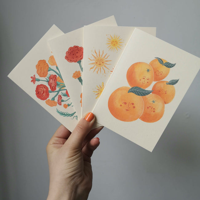 The Sunshine Collection, Pack of 4 A6 greetings cards