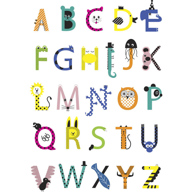 Animal Alphabet Print - british-red-cross
