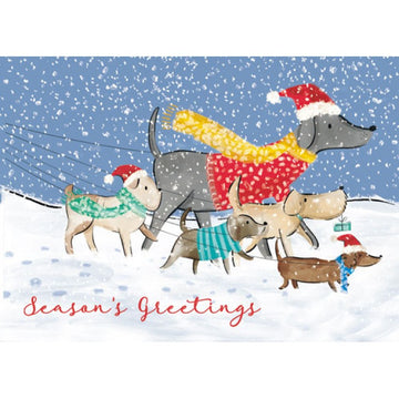 Winter walkies - Christmas Card