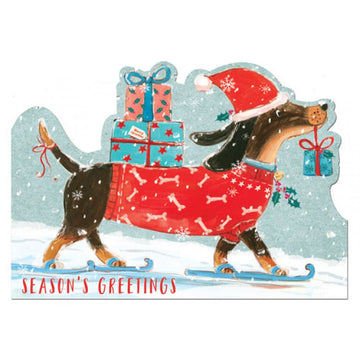 Dashing dog Christmas Card
