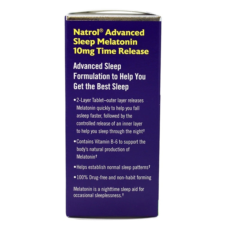 Melatonin 10 mg Advanced Formulation to promote better sleep Fall asleep faster stay asleep longer 60 pcs
