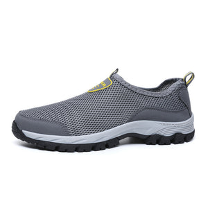 TKN 2019 Men's Outdoor Hiking Shoes Men Summer Mesh Breathable Waterproof Slip-On Outdoor Shoes Man Trekking Trail Shoes 1811