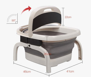 Folding foot bath foot bath device of electric heating automatic massage home pedicure bubble foot barrel temperature deep