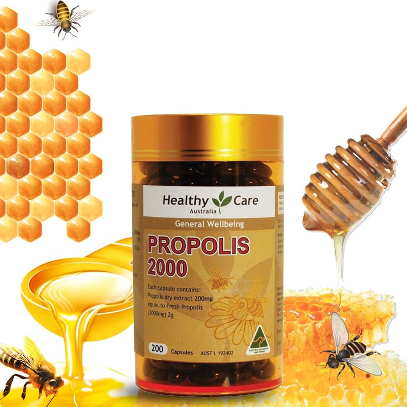 Australia Healthy Care Organic Propolis Flavonoid Amino acids Vitamins ABCE Minerals Support General well-being Healing agent