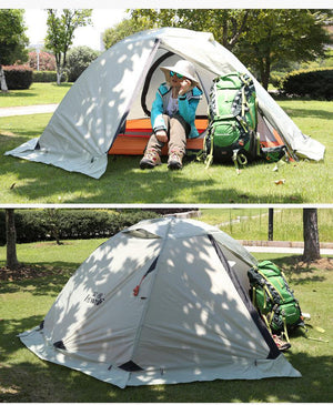2 Person Outdoor Tents Waterproof Four Season Winter Tent Double Layer Snow Skirt Fishing Camping Hiking Tent For Tourism